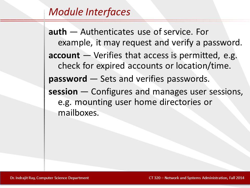 Module Interfaces Dr.