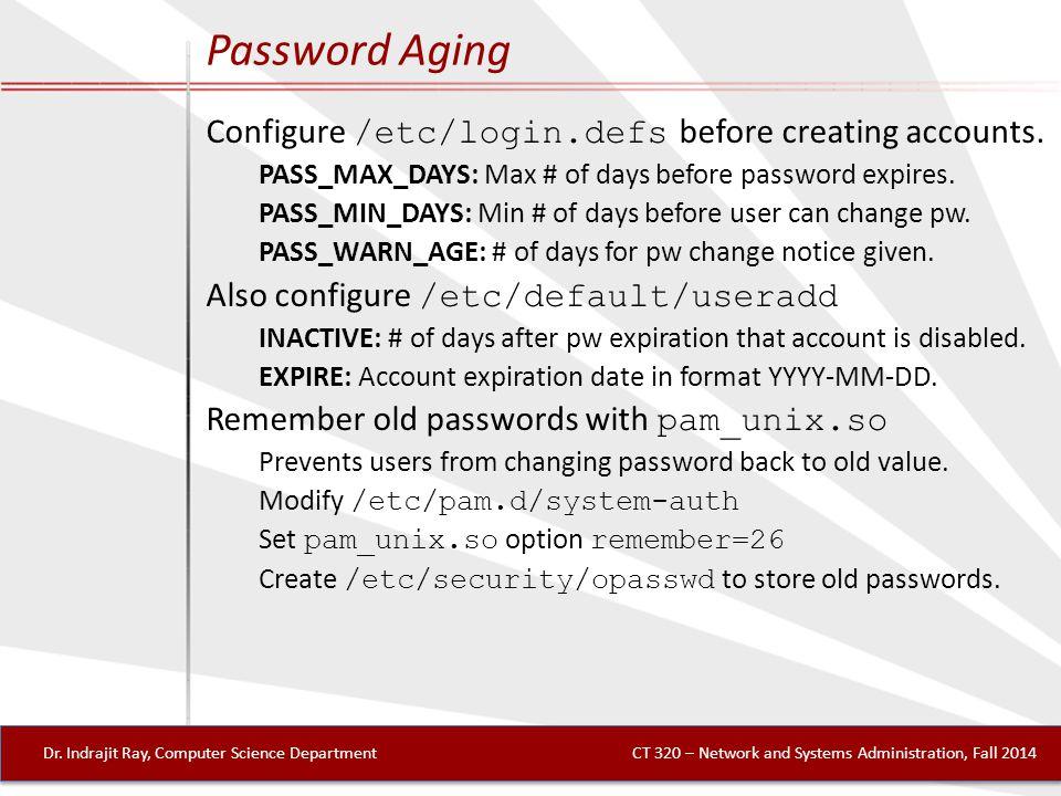 Password Aging Dr.