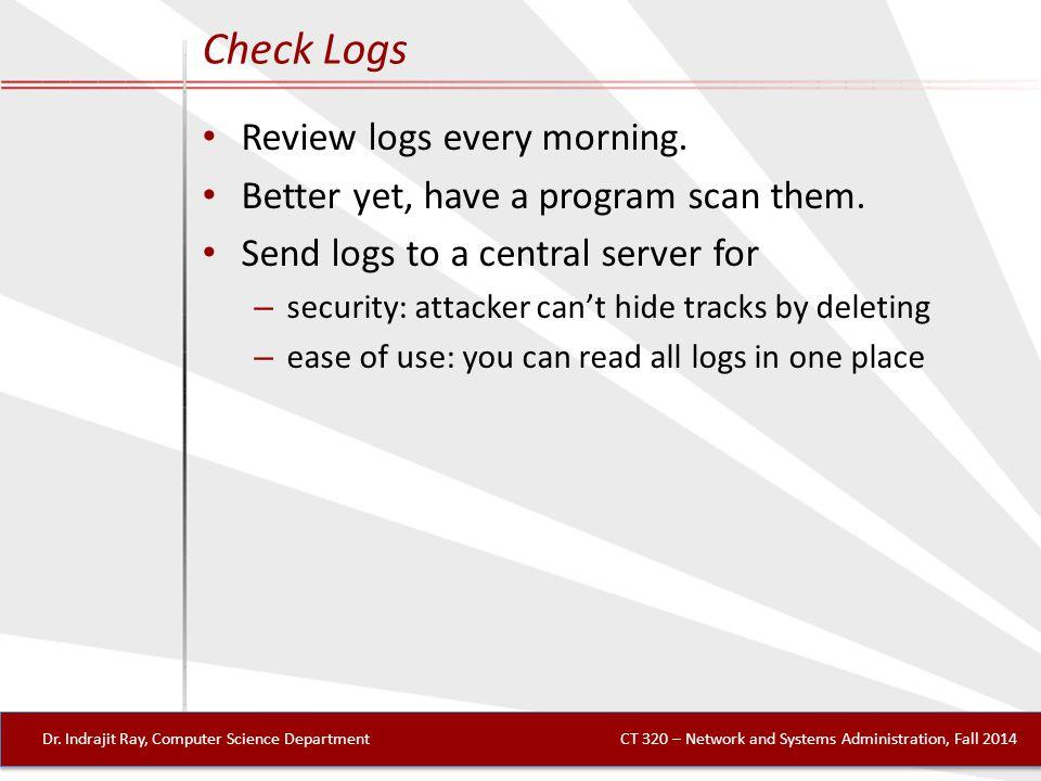 Check Logs Dr.