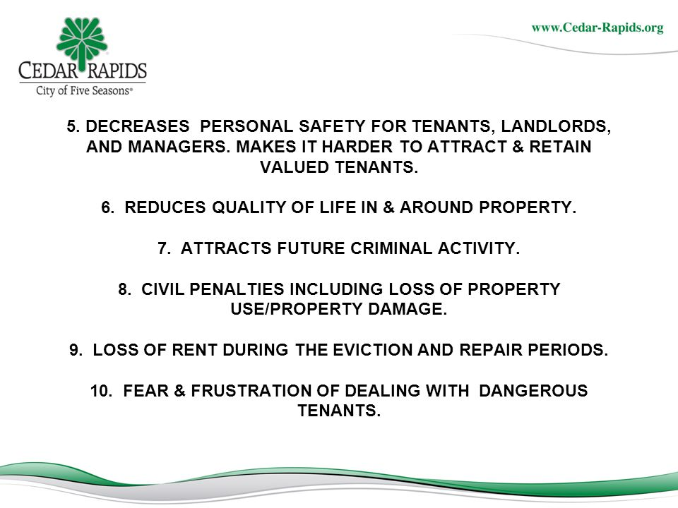 REASONS YOU DON'T WANT DRUG & GANG ACTIVITY AT YOUR RENTAL PROPERTY.