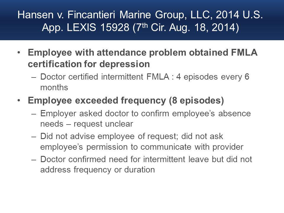 Hansen v. Fincantieri Marine Group, LLC, 2014 U.S.