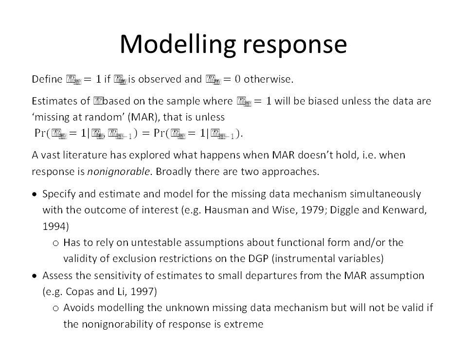 Modelling response