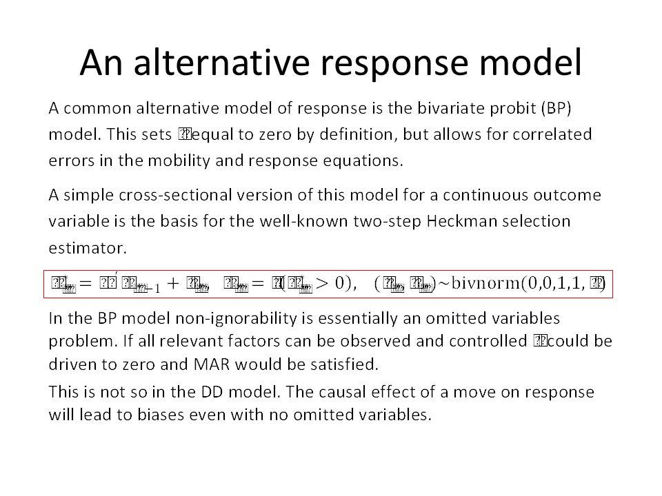 An alternative response model