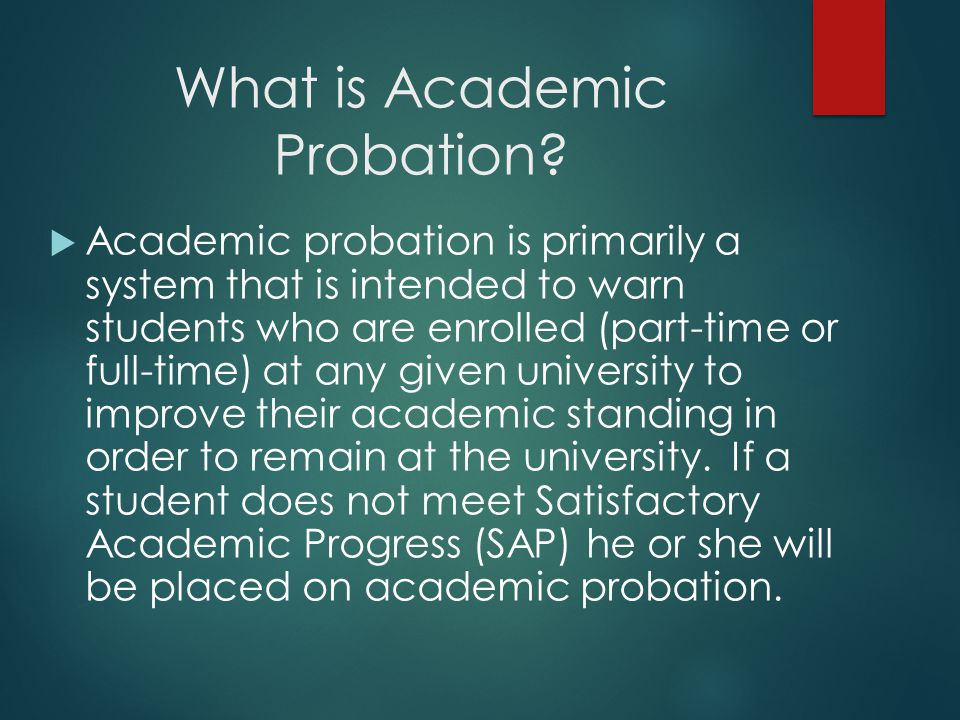 Assist students in creating a written plan of action to get off probation and regain their financial aid.
