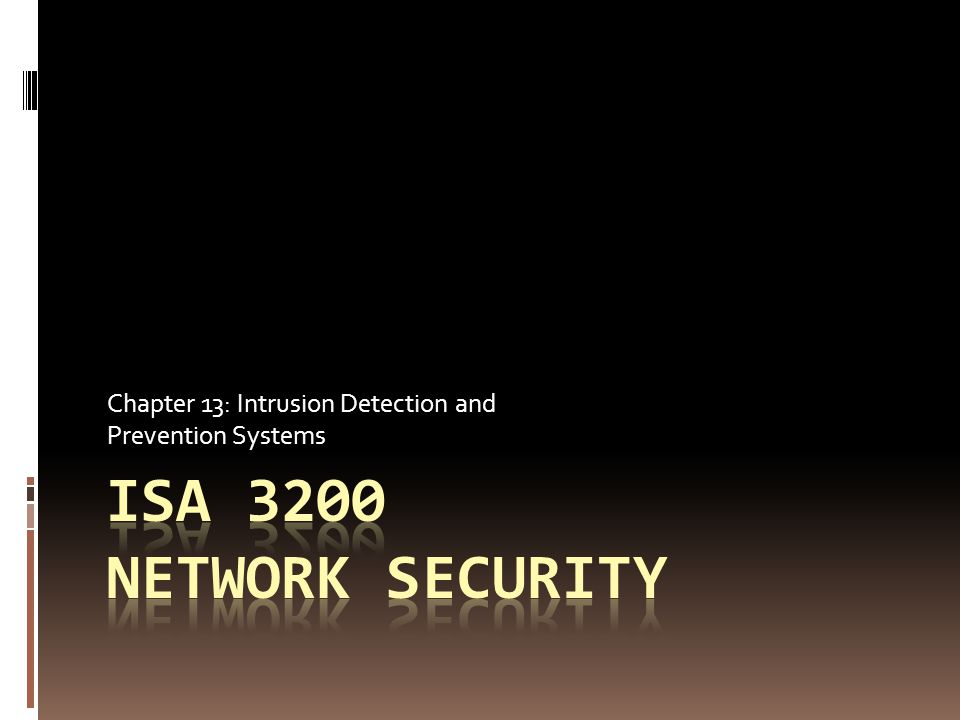Chapter Summary (continued)  Intrusion detection system (IDS) works like a burglar alarm: detects violation, activates alarm  Intrusion prevention system (IPS) can prevent intrusion from successfully attacking the organization by means of some active response  Because these systems often coexist, term intrusion detection/prevention system (IDPS) is used to describe current anti-intrusion technologies 7/19ISA 3200, Summer 2010 42