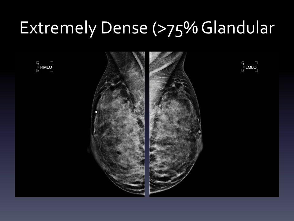 Extremely Dense (>75% Glandular