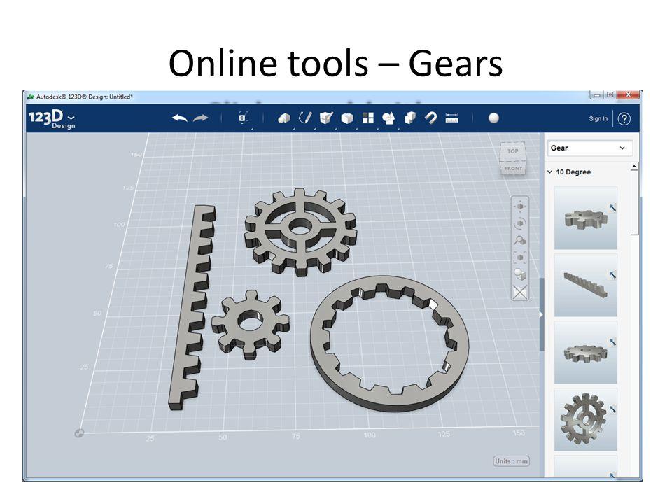 Online tools – Gears