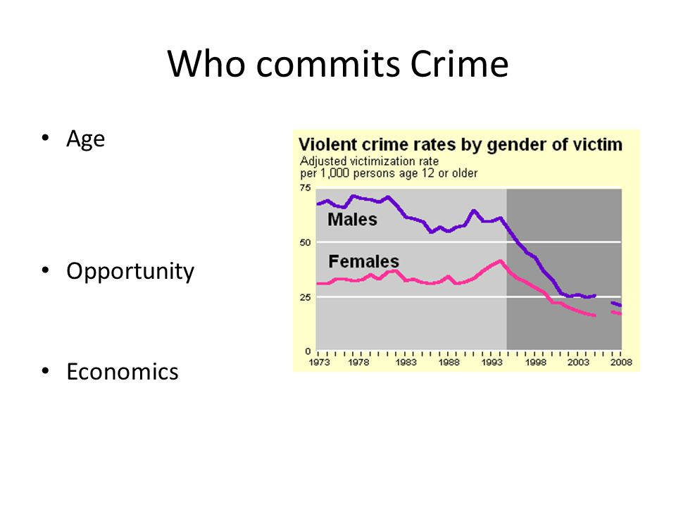 Who commits Crime Age Opportunity Economics