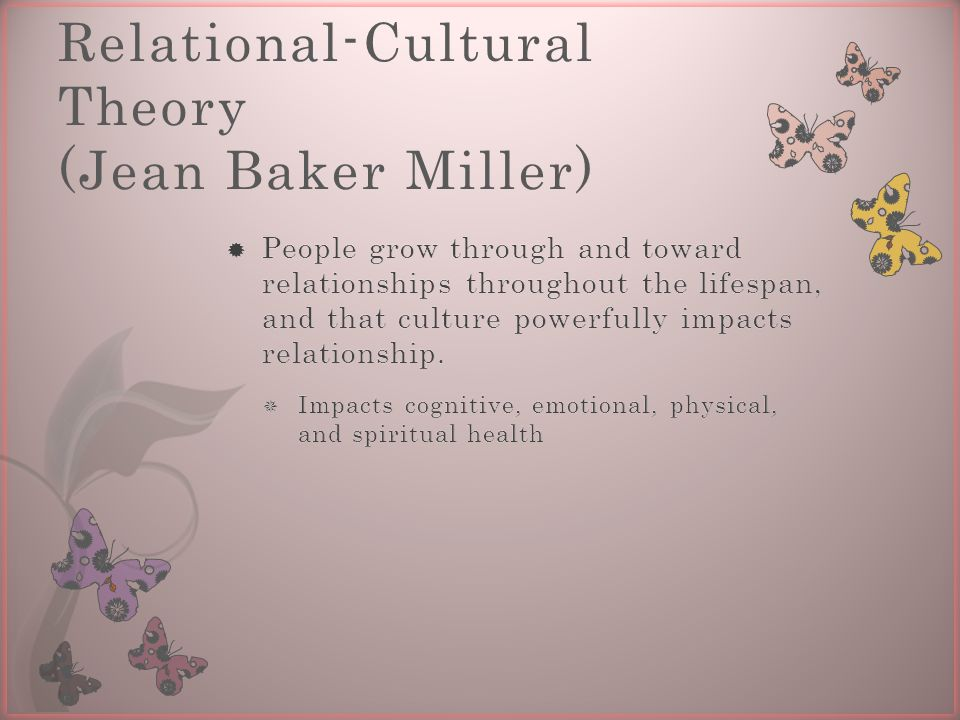 Relational-Cultural Theory (Jean Baker Miller)