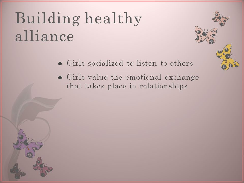 Building healthy alliance