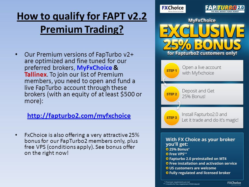 How to qualify for FAPT v2.2 Premium Trading.