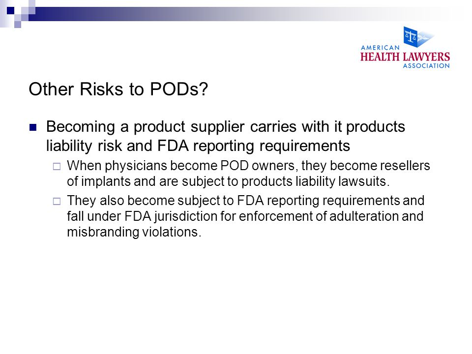 Other Risks to PODs.