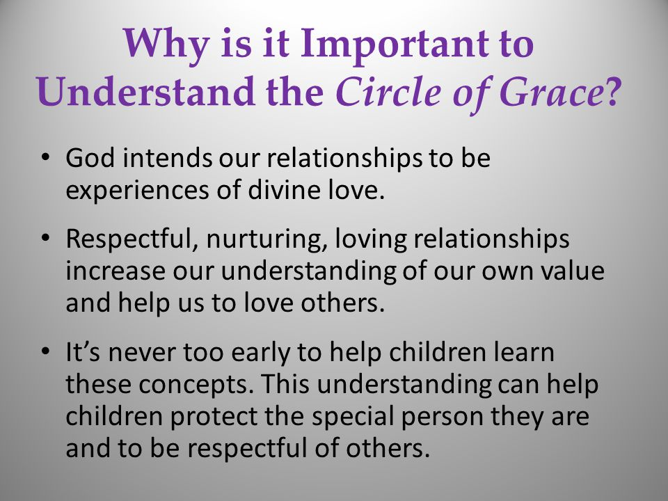 Why is it Important to Understand the Circle of Grace.