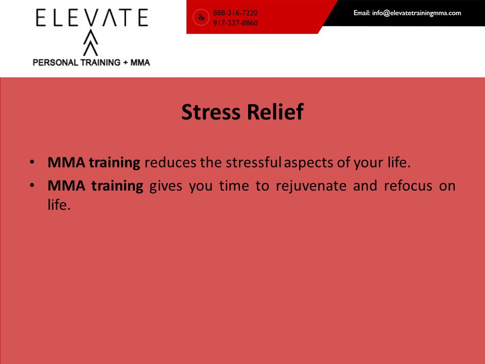 Elevate Training MMA Address: 1 Barry Pl Bldg#5, Stamford, CT 06902 Ph.