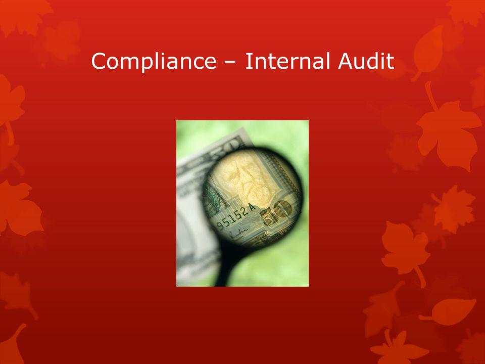 Compliance – Internal Audit
