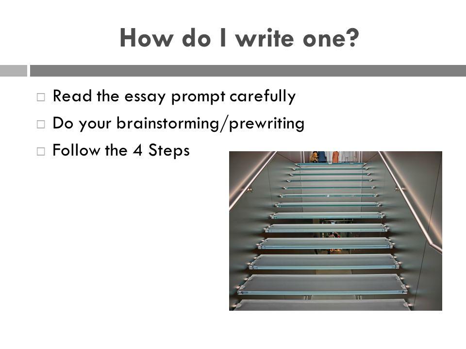 How do I write one.