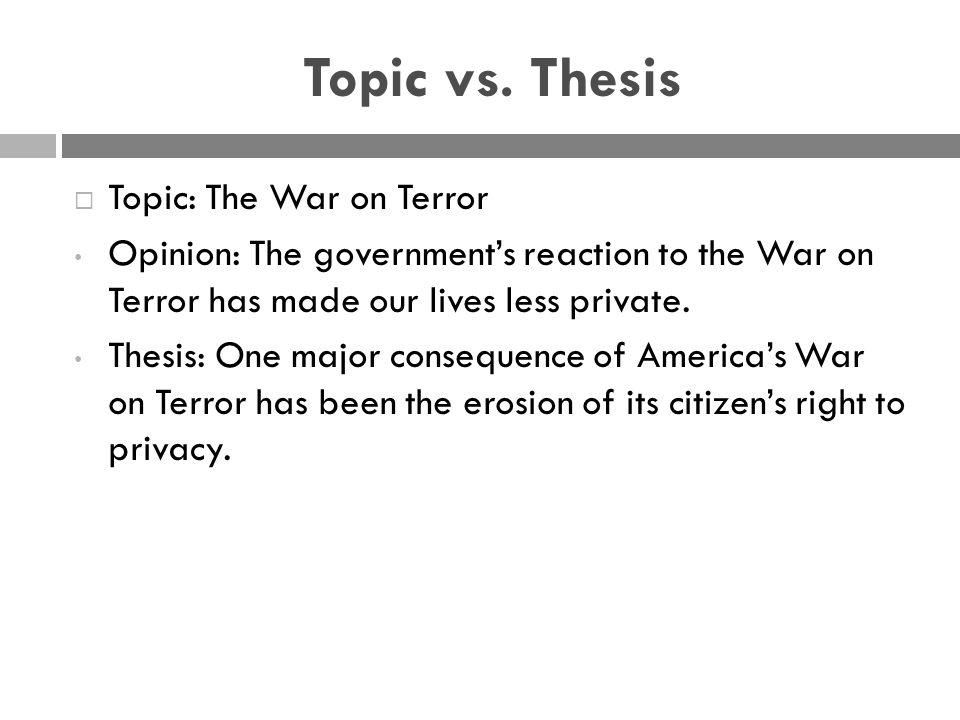 Topic vs.