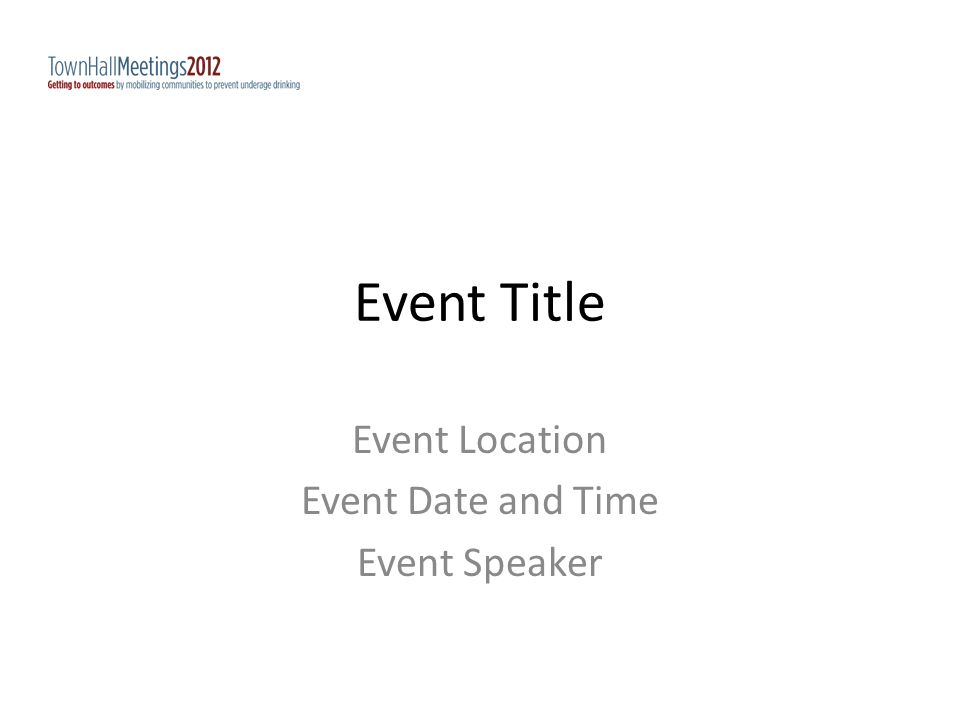 Event Title Event Location Event Date and Time Event Speaker