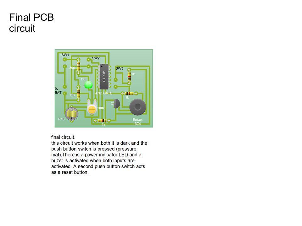 Final PCB circuit