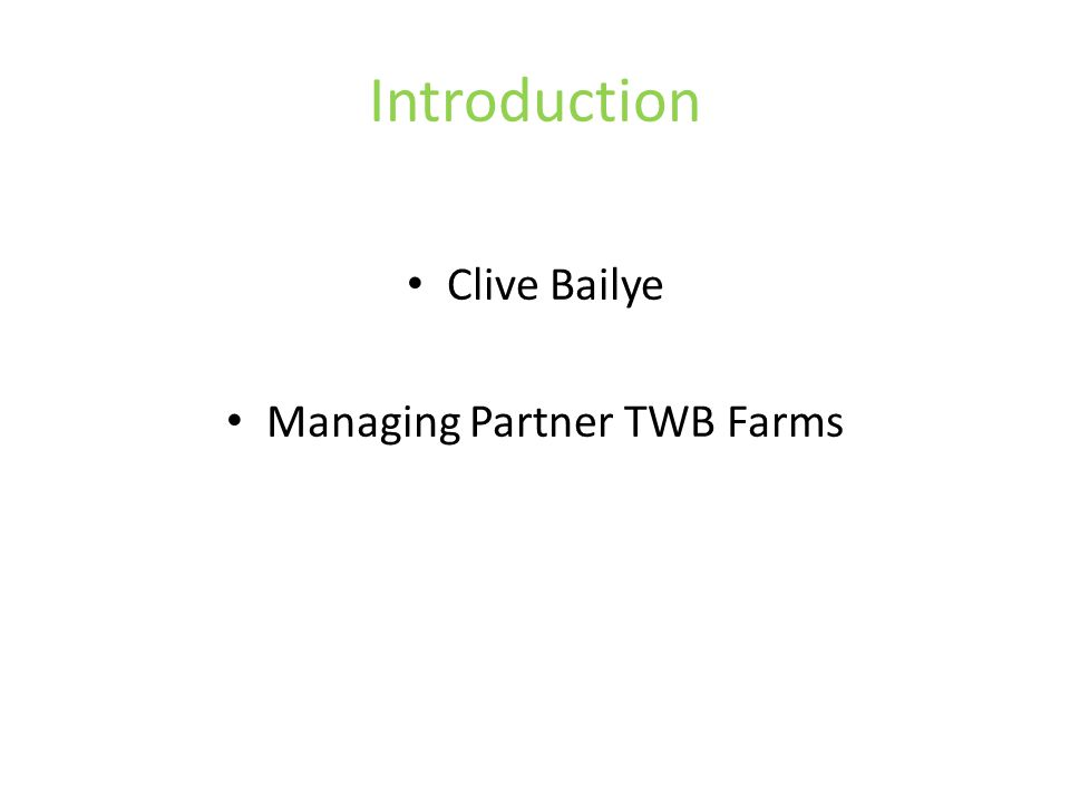 Background TWB Farms is an all combinable crops farm based near Lichfield, Staffordshire.