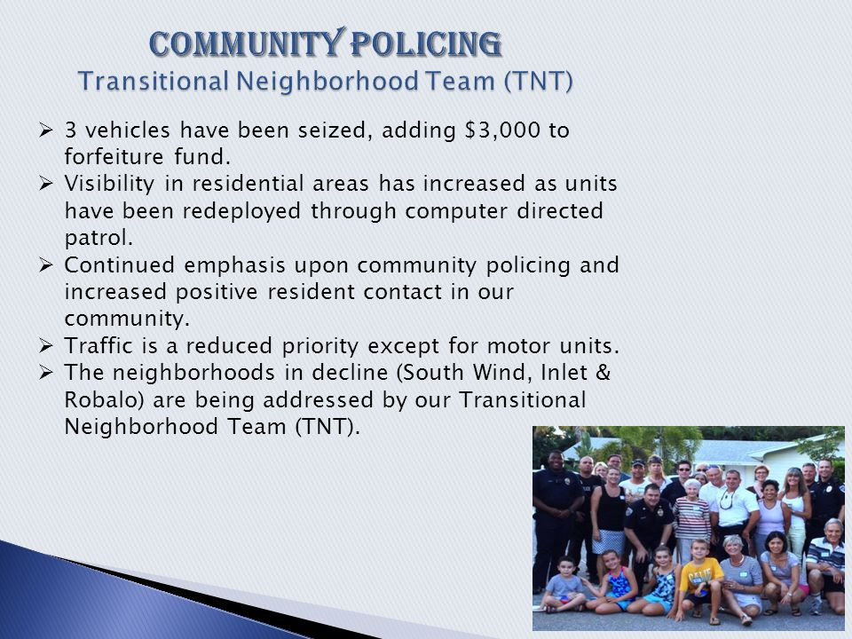  3 vehicles have been seized, adding $3,000 to forfeiture fund.