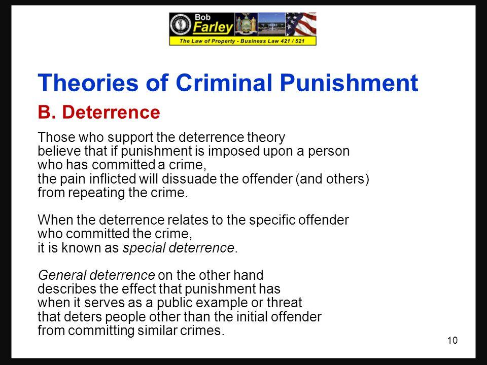 Theories of Criminal Punishment B.