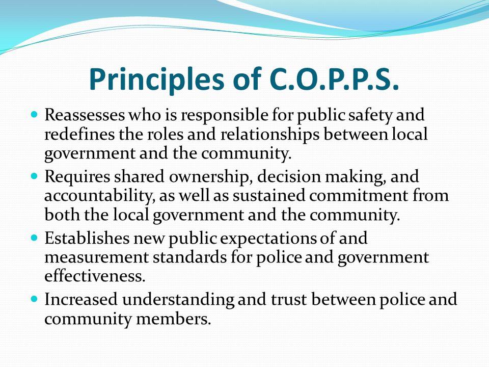 Principles of C.O.P.P.S.