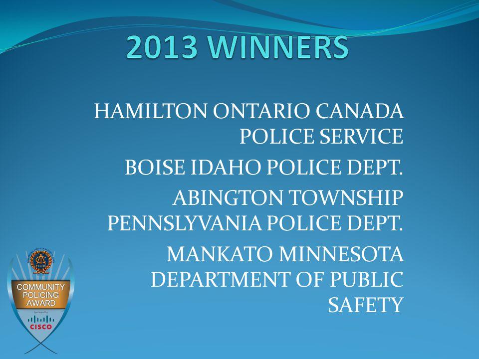 HAMILTON ONTARIO CANADA POLICE SERVICE BOISE IDAHO POLICE DEPT.