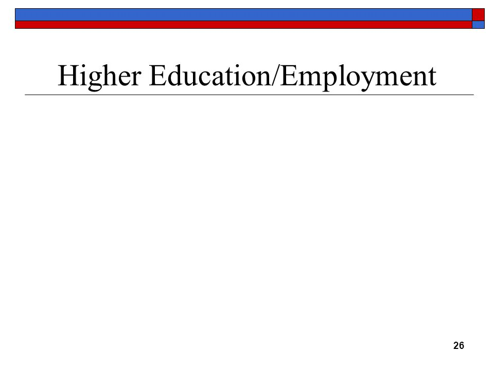 Higher Education/Employment 26