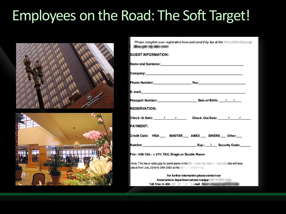Employees on the Road: The Soft Target!