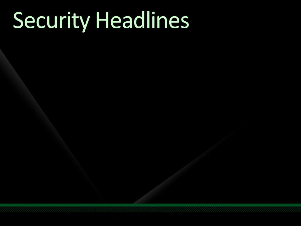 Security Headlines