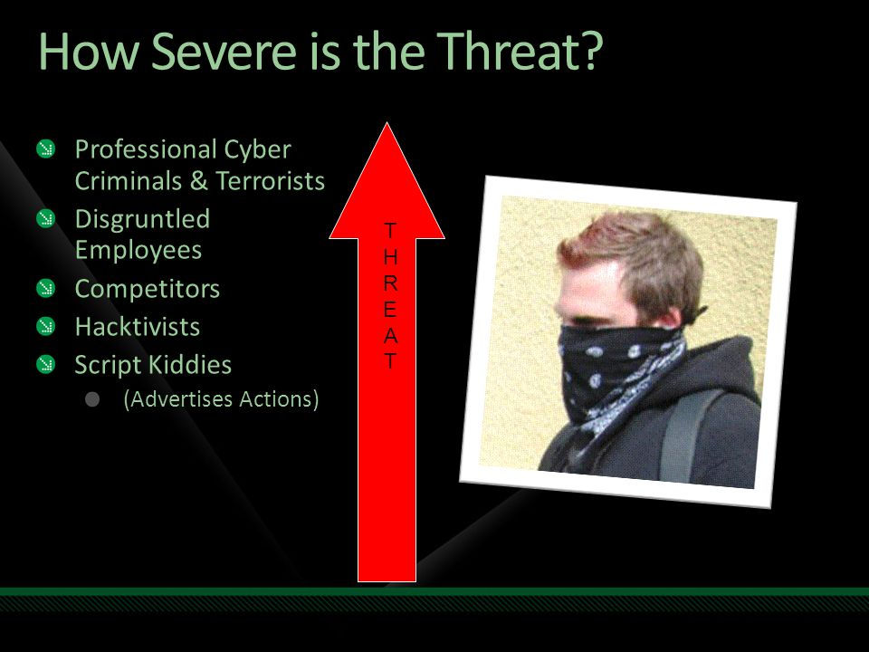 How Severe is the Threat.