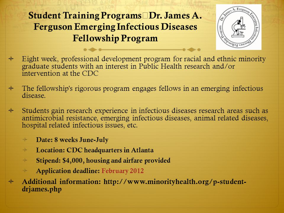 Student Training Programs Dr. James A.