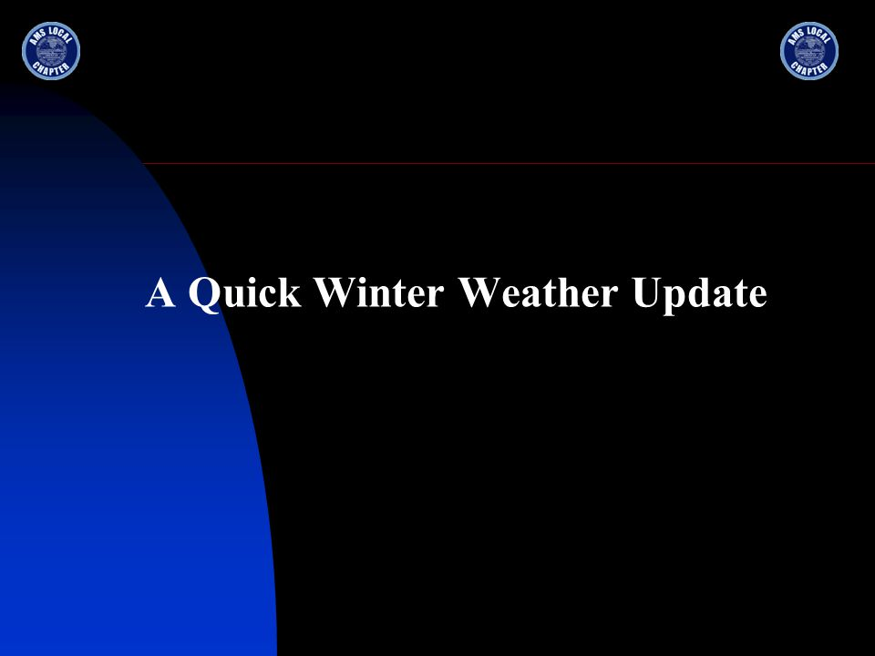 A Quick Winter Weather Update
