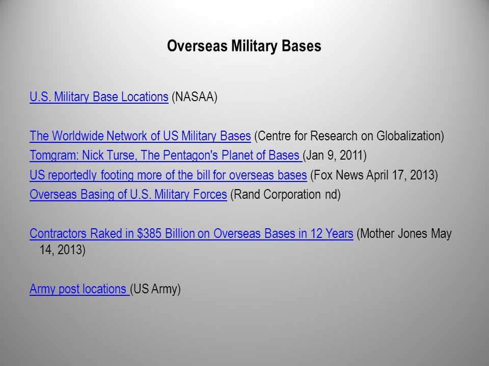 Overseas Military Bases U.S. Military Base LocationsU.S.