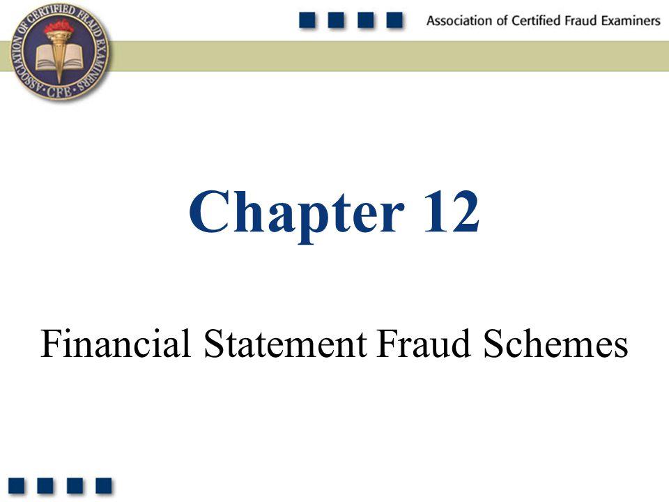 1 Financial Statement Fraud Schemes Chapter 12
