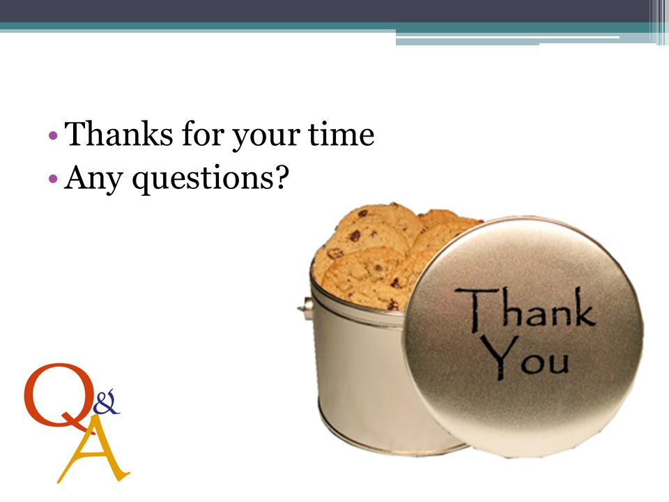 Thanks for your time Any questions?