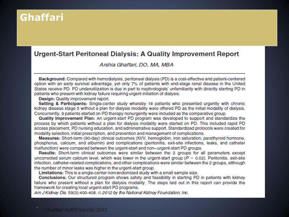 Ghaffari 1 Ghaffari 1 AJKD Vol (59) 2012 *