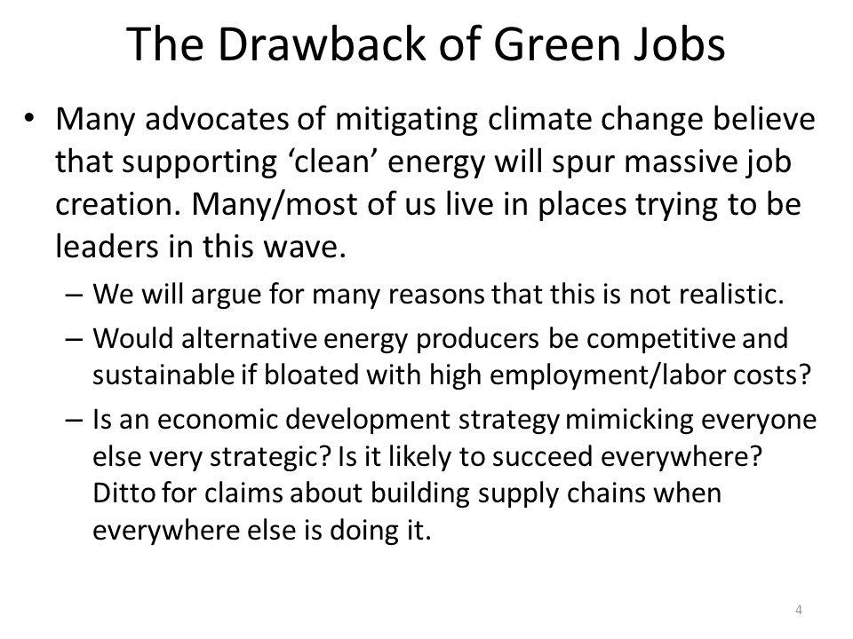Green Jobs Brown Labor Market 65 Wage Employment Labor Supply Labor Demand E1E1 E2E2 W1W1 W2W2 with Green Energy Subsidy Coal Labor Market