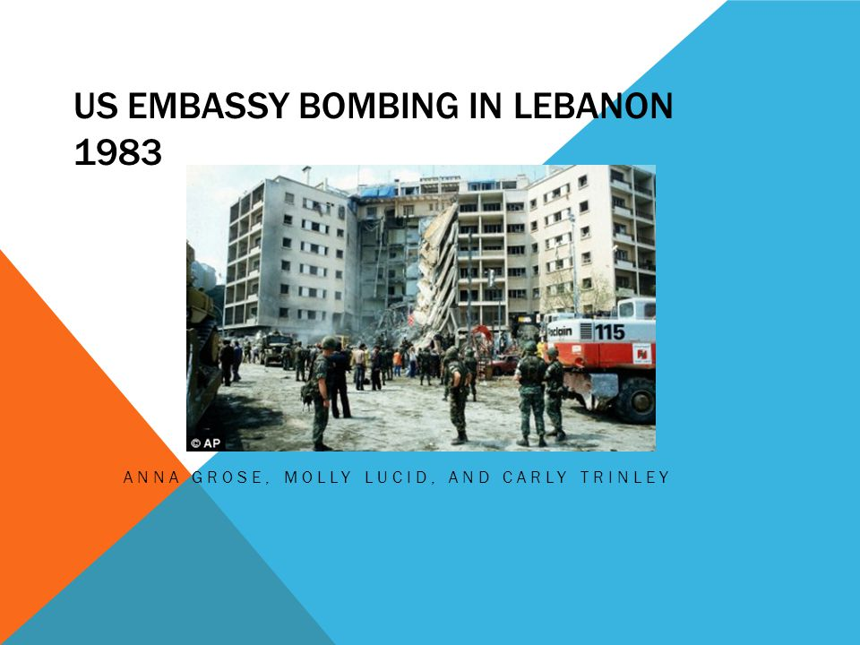 US EMBASSY BOMBING IN LEBANON 1983 ANNA GROSE, MOLLY LUCID, AND CARLY TRINLEY