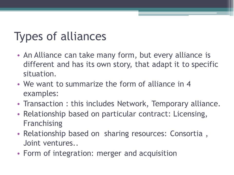 Evolution of factors leading to alliances