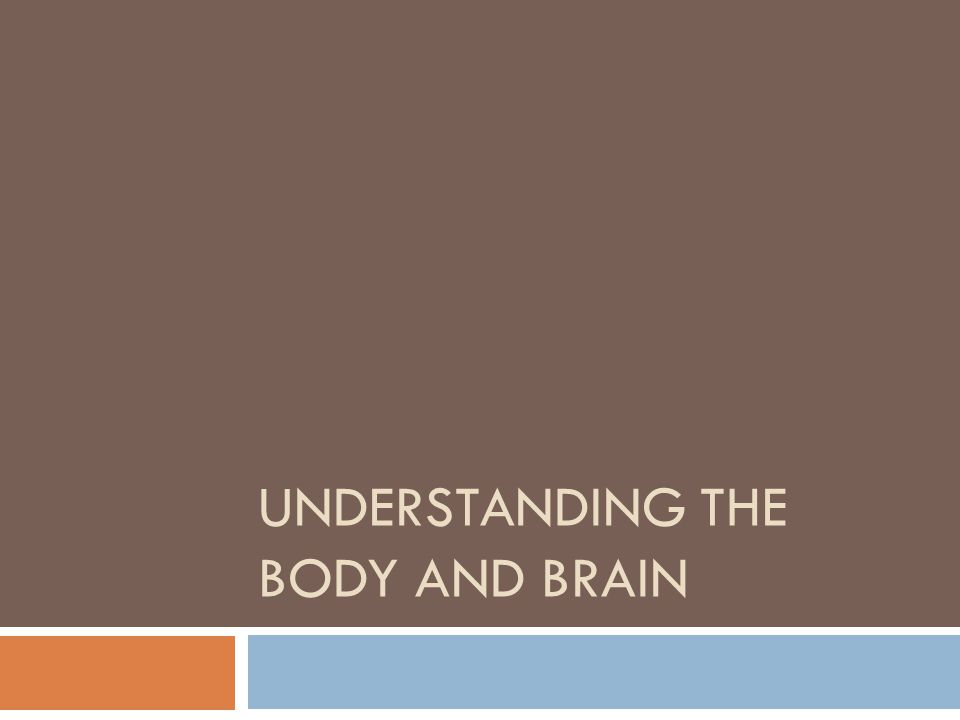 UNDERSTANDING THE BODY AND BRAIN