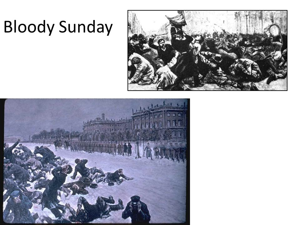Stage Three Examples 1905-Bloody Sunday: a peaceful protest of 200,000, but guards open fire and kill 1000 February/March Revolution: March 8, 1917, 1