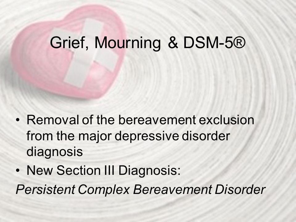 Persistent Complex Bereavement Disorder: DSM-5® Criteria A.