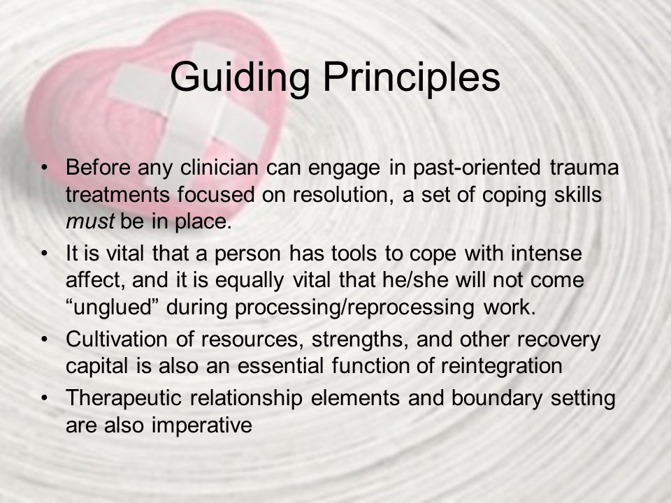 Guiding Principles The stages are fluid.