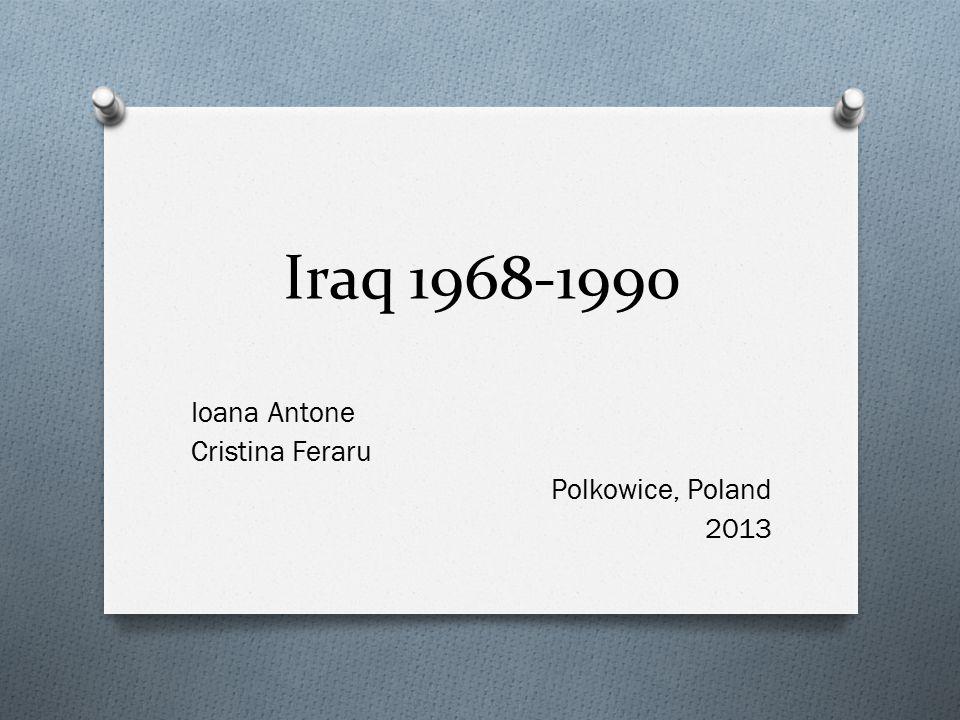 Iraq 1968-1990 Ioana Antone Cristina Feraru Polkowice, Poland 2013