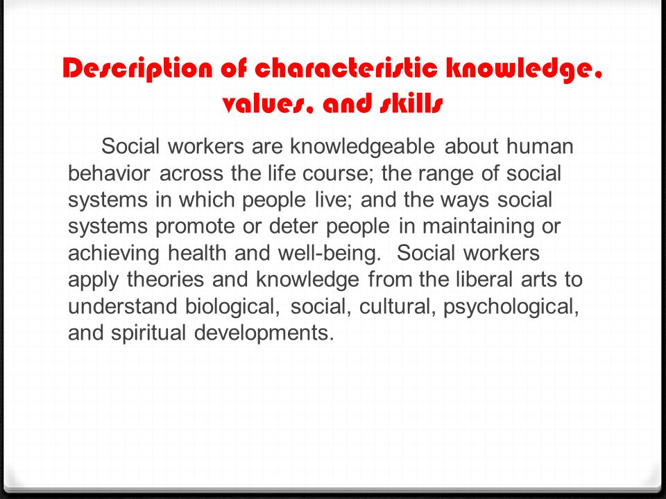 Generalist Practice Behavior 7.1  By understanding the Ecological Systems Theory, school social workers can assess a particular issue presented by the student, evaluate their home life and peer group, and then implement an intervention according to the needs of the student.