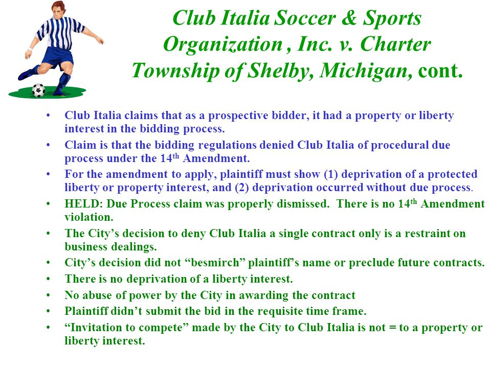 Club Italia Soccer & Sports Organization, Inc. v.