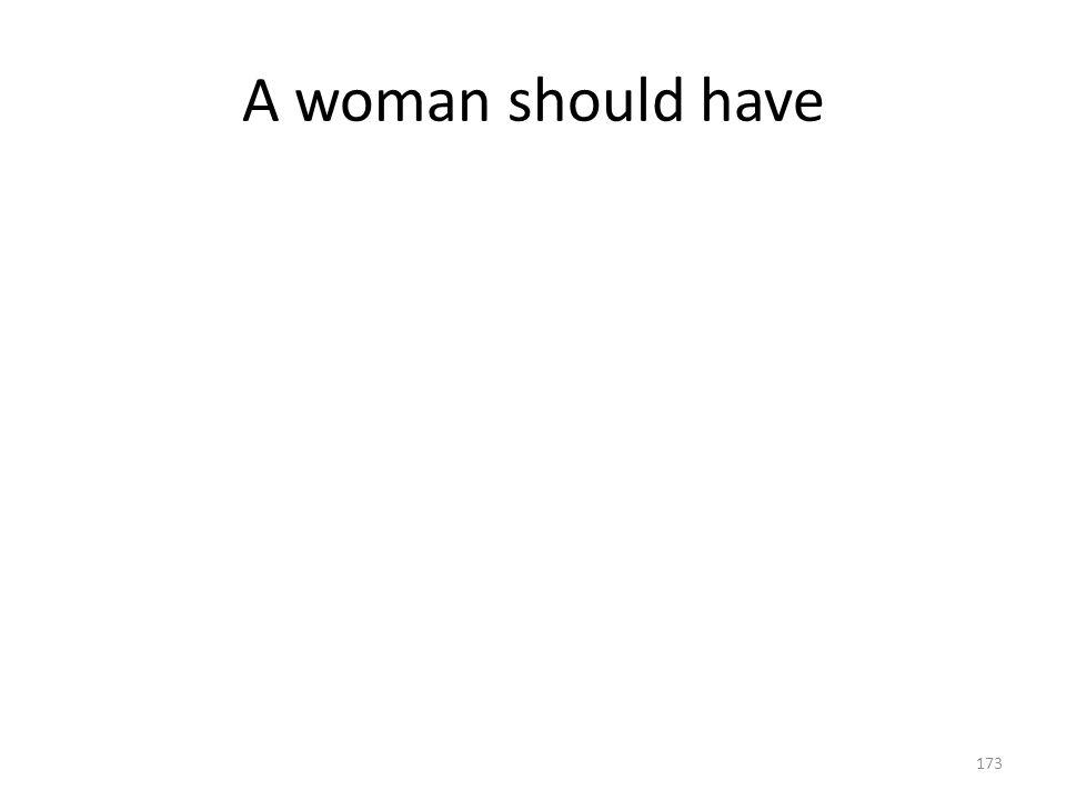 A woman should have 173