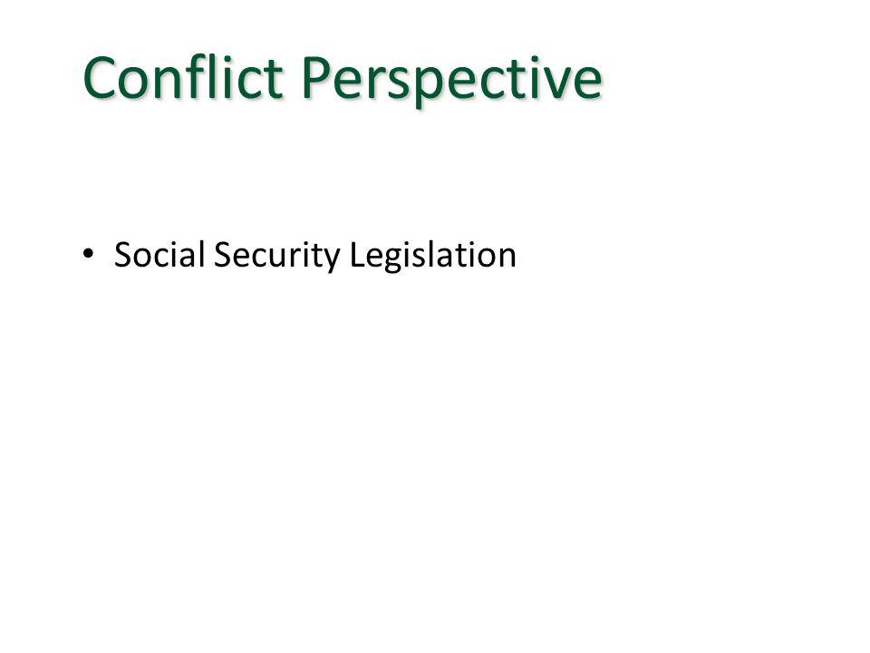 Social Security Legislation Conflict Perspective